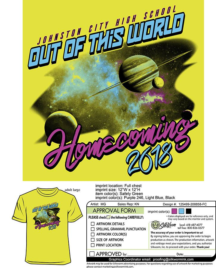 homecoming order form
